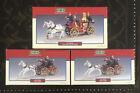 LEMAX Village Collection Lot Set of 3: Fire Chiefs & Village Volunteers in Wagon