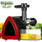 Slow Masticating Juicer Cold Press Extractor Maker Wide Chute Kitchen Tool Set
