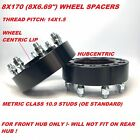2pc 2 8x170 Black Hubcentric Wheel Spacers Fits F250 F350 SuperDuty Adapter