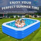 Inflatable Pool Blow Up Swim Center Family Pool for Toddlers Kids 120X72X23
