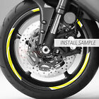 Wheel 17'' STRIPE Rim Stickers For Kawasaki Ninja ZX-6R H2 H2R Z1000 Z900