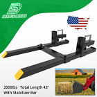 2000lb Tractor Pallet Forks Bucket Forks Clamp On For Backhoeskid Steer Loader