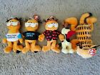 Lot of 5 Ty Beanie Babies Garfield Odie NEW with TAGS