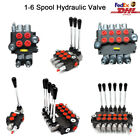 1 6 Spool Hydraulic Monoblock Directional Control Valve 21GPM for Log Splitter