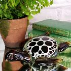 Vintage Murano Glass Sea Turtle Figurine Italian Spotted Paperweight Gift Cmas