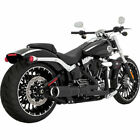 Vance  Hines Black Hi Output 2 Into 1 Short Exhaust for Harley Breakout Rocker