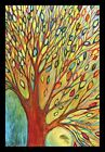 FRAMED Rainbow Tree Autumn by Jennifer Lommers 18x12 Colorful Art Print Painting
