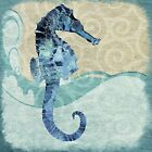Seahorse by Jill Meyer Graphic Art on Wrapped Canvas 36x36