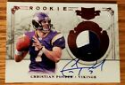 2011 Christian Ponder AUTO AUTOGRAPH Jersey Rookie NFL TRADING Card 204 299