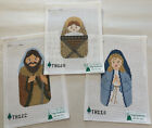 Sally Luedtke 3 Handpainted Needlepoint Canvas NATIVITY Joseph Mary Jesus 13ct