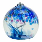 Oil Lamp Tree Of Enchantment Winter Kitras Art Glass