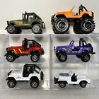 Pioneer Jeep CJ 4x4 164 Diecast Lot of 3 Red White  Green