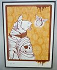 Signed JEREMY FISH screen print SERIGRAPH silkscreen 79 100 SURREAL 2004 Clocks