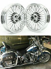 16x35 Chrome Front Rear Cast Wheels for Harley Touring Softail Dyna Sportster