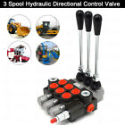 3 Spool Hydraulic Directional Control Valve Adjustable Pressure 11GPM for Loader