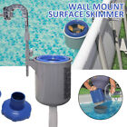 Swimming Pool Surface Skimmer Wall Mount Basket Above Ground Debris Cleaning