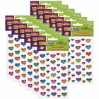 Peel  Stick Gemstone Stickers Large Hearts Assorted Sizes 37 Per Pack 12