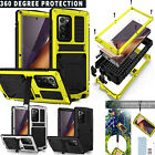 WaterProof For Galaxy Note20 20 Ultra Metal With Glass 360Screen Protector Case