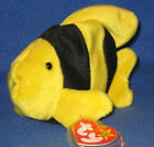 TY BUBBLES the FISH BEANIE BABY - MINT with MINT TAGS