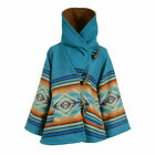 Yellowstone Season 3 Wool Blend Beth Dutton Blue Hooded Kelly Reilly Coat Poncho