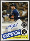 2020 Topps Christian Yelich Autograph - Series 2 Auto - Milwaukee Brewers - SP