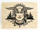 Stamp Oasis Fire Winged Goddess Rubber Stamp Large New Flames Feather Religions
