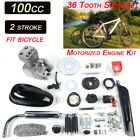 100CC 2 Stroke Petrol Gas Motor Bicycle Engine Motor Kit For Motorized Bike USA