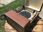 Vintage Silvertone Suitcase Record Player Model 7245 Sears Roebuck  Co Tubes