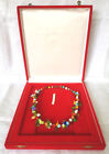 VINTAGE MURANO VENICE HAND BLOWN GLASS BIRD BEAD NECKLACE WITH BOX
