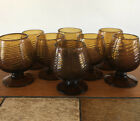 Old Mexico Vintage Brandy Cordial Snifter Glasses Handblown Amber Set Of 8