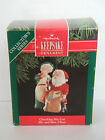 CHECKING HIS LIST - Mr. and Mrs. Claus - #6 in Series - HALLMARK ORNAMENT - 1991