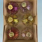 Vintage Alu Glass Lauscha Thuringia Germany 1960s Christmas Tree Ornaments 6 Box