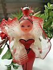 c1960s VTG De Carlini Christmas Ornament RED DRESSED LADY Neiman Marcus ITALY