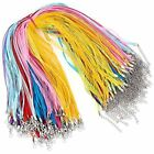100 Strands Multi Strand Ribbon Necklace Cord With 3 Loops Waxed Organza Alloy