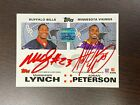 2007 TOPPS RED INK QUAD AUTOGRAPH ADRIAN PETERSON MARSHAWN LYNCH JOHNSON GINN !