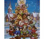Full Square Round Drill 5D DIY Diamond Painting Dog Christmas Tree 3D Embroidery