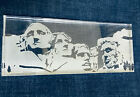 New in Box RARE Art STEUBEN MT RUSHMORE Engraved Crystal Presidents Paperweight