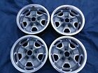 VERY NICE SET OF 4 OLDSMOBILE CUTLASS 442 SS RALLY WHEELS 14X6 WITH TRIM RINGS
