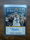 Trey Burke AUTO Great Significance Gold 2015-16 NBA Hoops Autograph Jazz