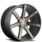 4 17 Niche Wheels M150 Verona Black Machined RimsB42