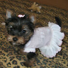 Pink Dog Dress Sweater Puppy Small Dog Clothes Chihuahua Yorkie Girl Dog Apparel