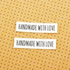160pcs Custom Iron Labels Personalized Logo Text Cotton Fabric Name Clothings