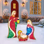 Nativity Set Indoor Outdoor Christmas Decor 54 LED Mary Joseph and Baby Jesus