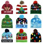 LED Christmas Hat Sweater Knitted Beanie Christmas LightUp Knitted Hat Christmas