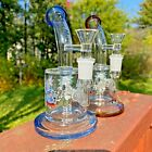 75 Cartoon Design Glass Water Pipe Hookah Bong W Showerhead Perc