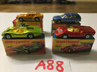 Set of 4 Matchbox Lesney Superfast Cars with Original Boxes Lot A88