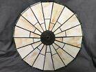 Antique Tiffany Style Spectrum Stained Slag Glass Lamp Shade