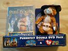 Ty Beanie Baby - Puss In Boots + 2 DVDs Puss In Boots & The Three Diablos Dbl Pk