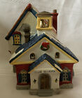 Lemax 1993 Porcelain Christmas Village Olde School House Good Cond 35091