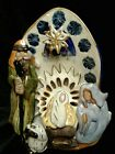BLUE SKY 2009 FIRST CHRISTMAS NATIVITY SCENE HEATHER GOLDMINC CLAYWORKS